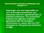environmental protection sustainable road transport 4