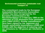 environmental protection sustainable road transport 5