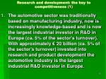 research and development the key to competitiveness 1