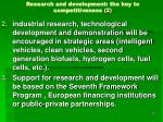 research and development the key to competitiveness 2