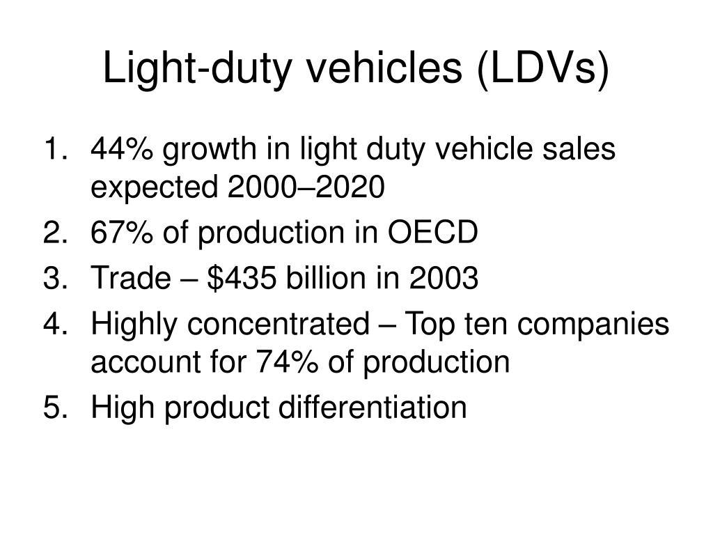 light duty vehicles ldvs l.