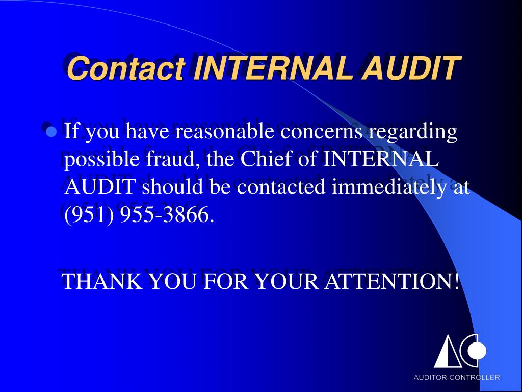 Contact INTERNAL AUDIT