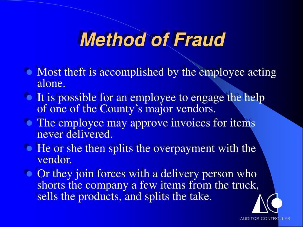 Method of Fraud