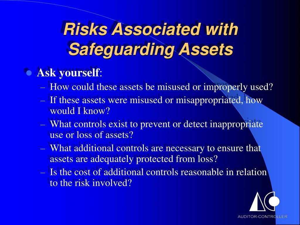 Risks Associated with Safeguarding Assets