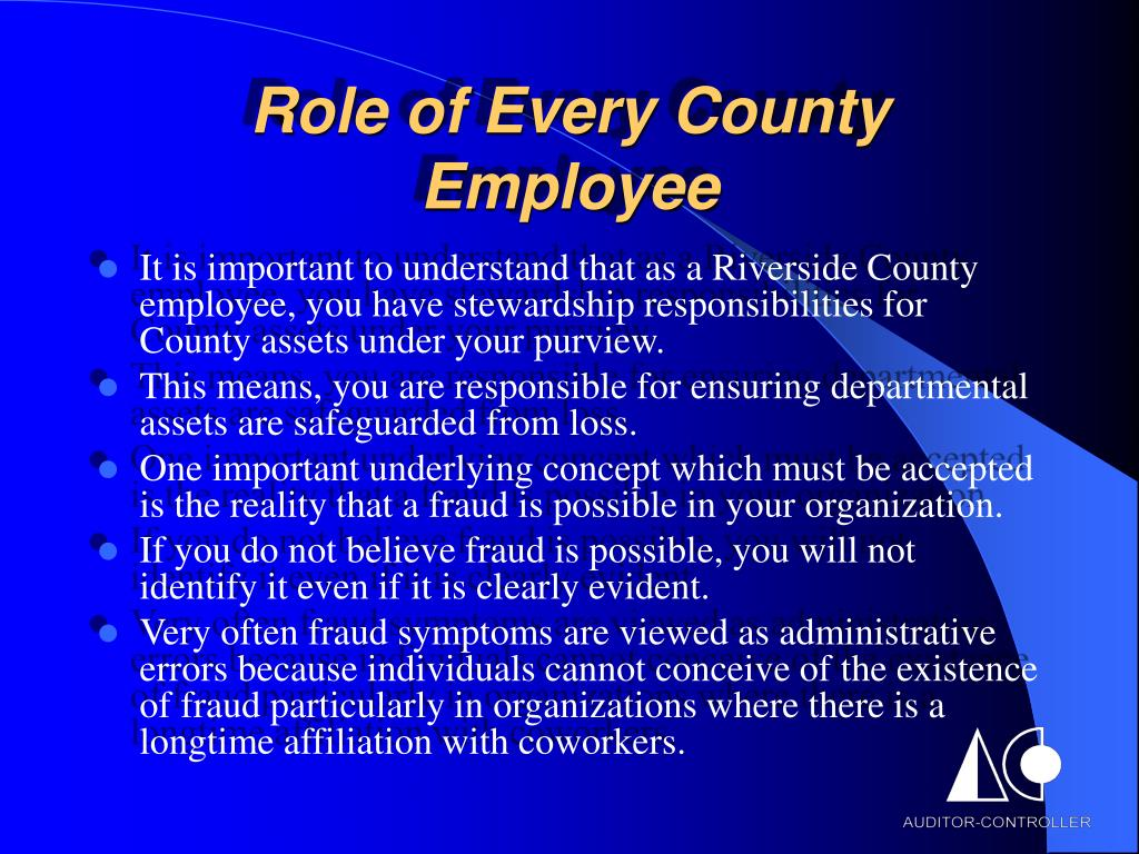 Role of Every County Employee