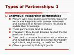 types of partnerships 1