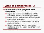 types of partnerships 3