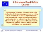 a european road safety charter