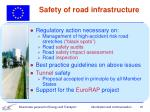 safety of road infrastructure