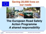 saving 20 000 lives on our roads