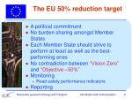 the eu 50 reduction target