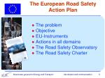 the european road safety action plan