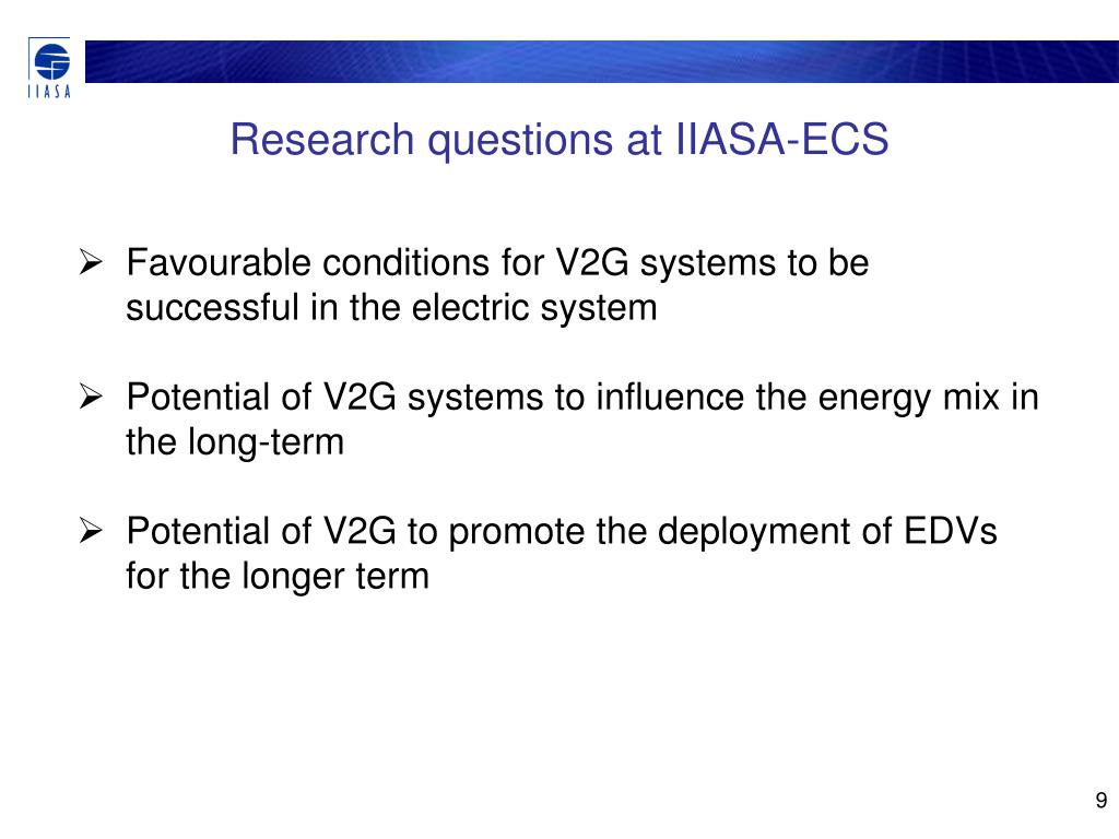Research questions at IIASA-ECS