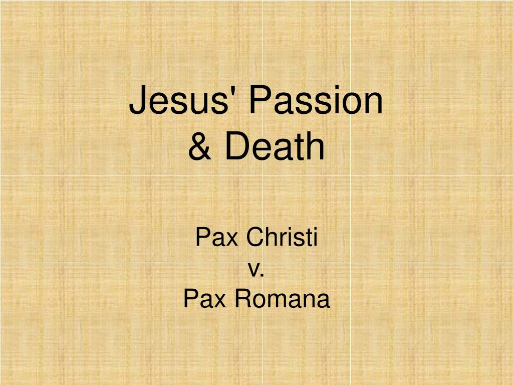 jesus passion death l.
