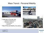 mass transit personal mobility