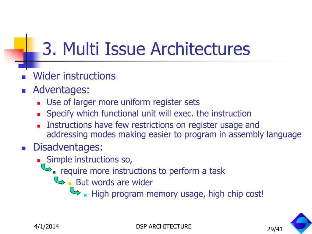 3. Multi Issue Architectures