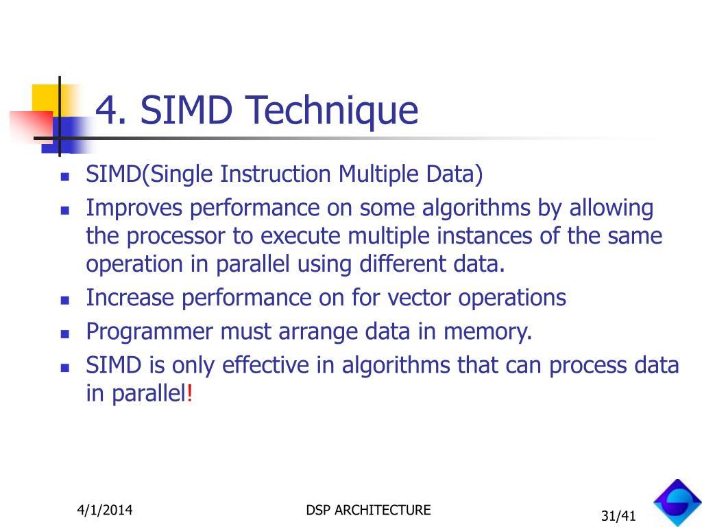 4. SIMD Technique