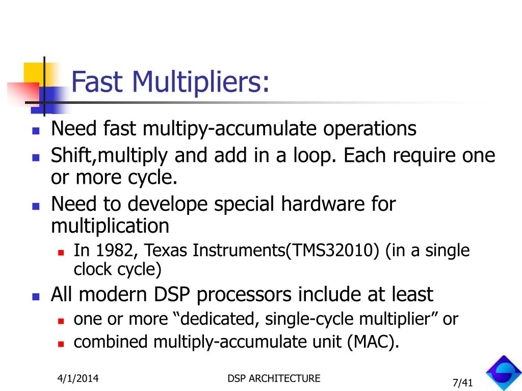 Fast Multipliers: