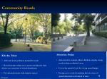 community roads