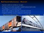 rail transit infrastructure monorail