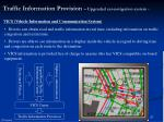 traffic information provision upgraded car navigation system