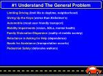 1 understand the general problem