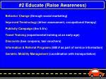 2 educate raise awareness