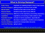 what is driving demand