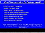 what transportation do seniors need