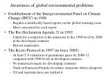 awareness of global environmental problems20