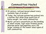 commodities hauled