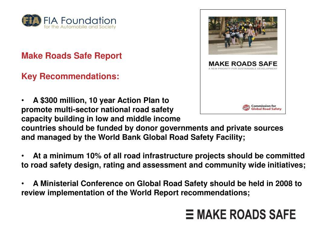 Make Roads Safe Report