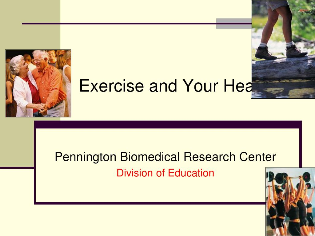 exercise and your health l.