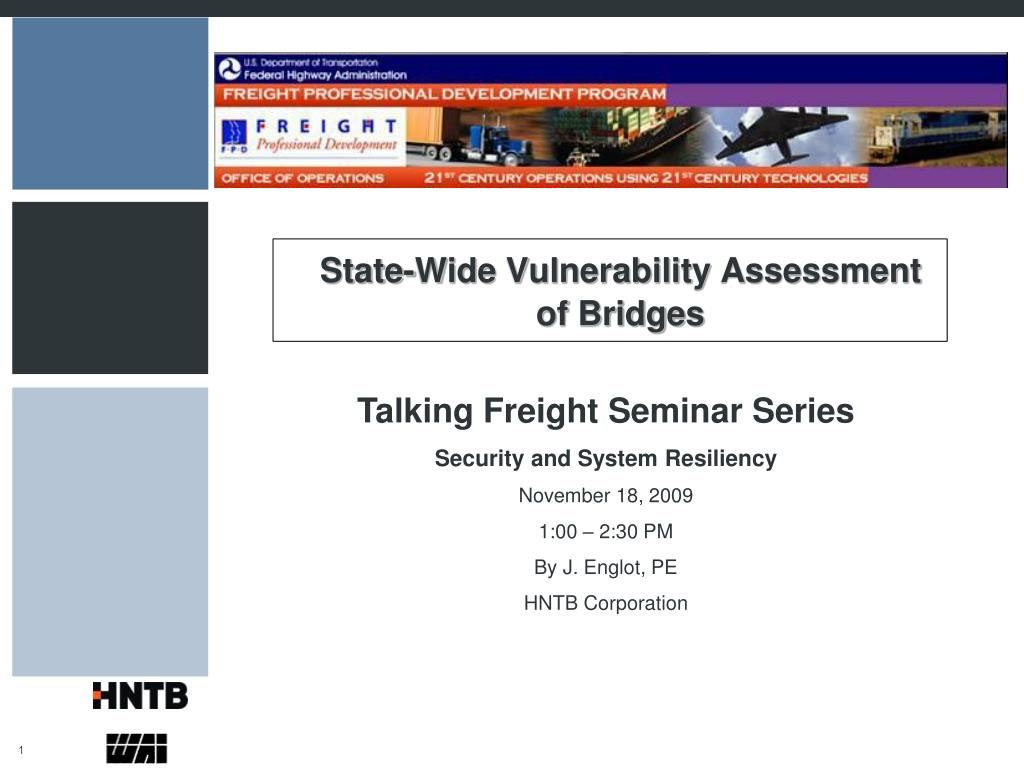 state wide vulnerability assessment of bridges l.