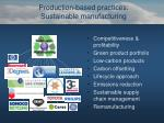 production based practices sustainable manufacturing