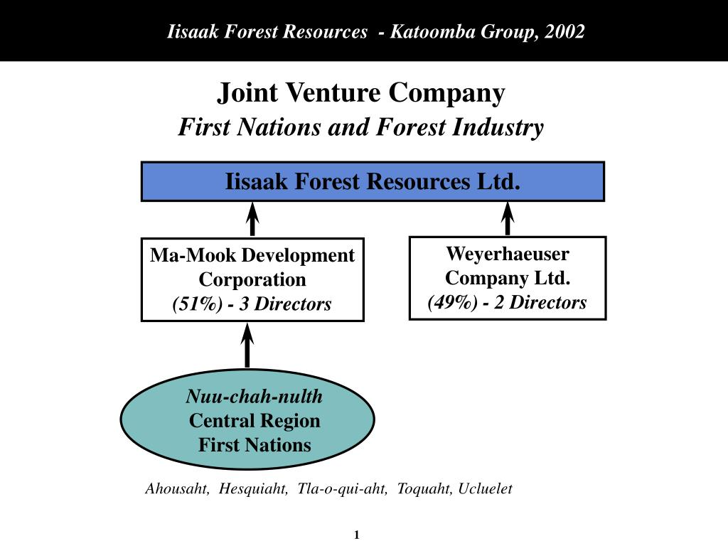 joint venture company first nations and forest industry l.