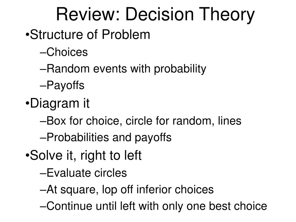 review decision theory l.