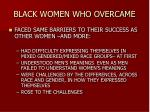 black women who overcame