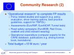 community research 2