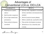 advantages of conventional lca vs eio lca