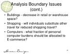 analysis boundary issues cont