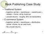 book publishing case study