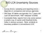 eio lca uncertainty sources