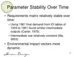 parameter stability over time