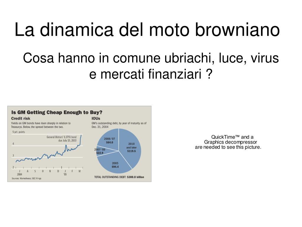 la dinamica del moto browniano l.