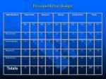 personnel effort budget