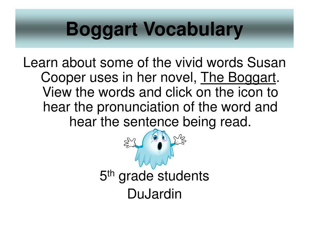 boggart vocabulary l.