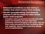 behavioral surveillance