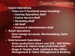 casino operations