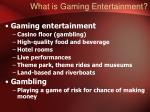what is gaming entertainment